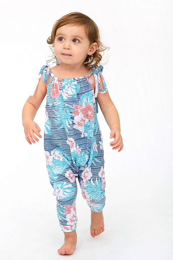 Slide View: 1: Sol Angeles Baby Hibiscus Romper