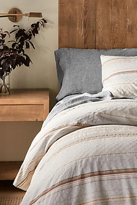 Slide View: 2: Coyuchi Pacific Grove Organic Duvet Cover