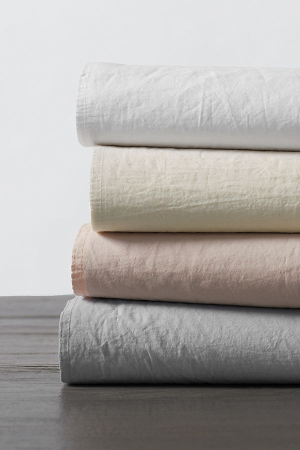 Slide View: 2: Coyuchi Organic Crinkled Percale Sheet Set