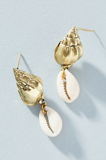 Lena Bernard Conch Drop Earrings 4d58daf2a0