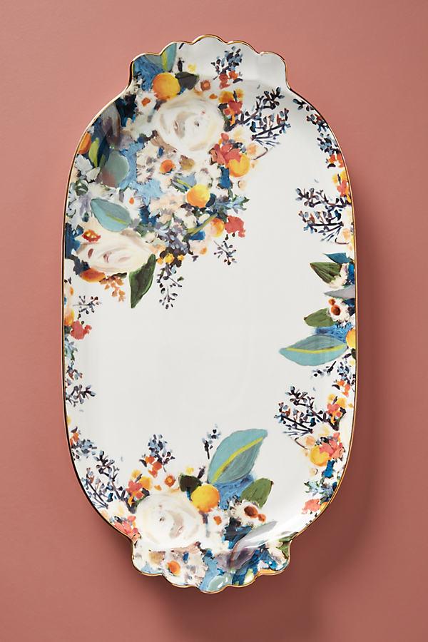 Botanica Platter - Gold, Size Pltr/tray