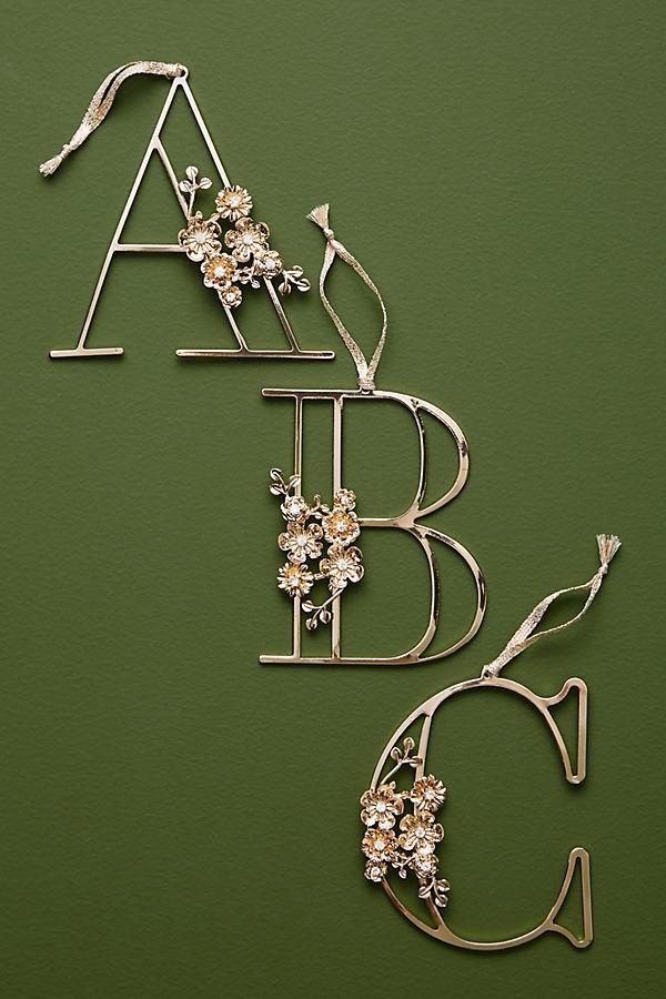 Floral Monogram Decoration - A, Size X