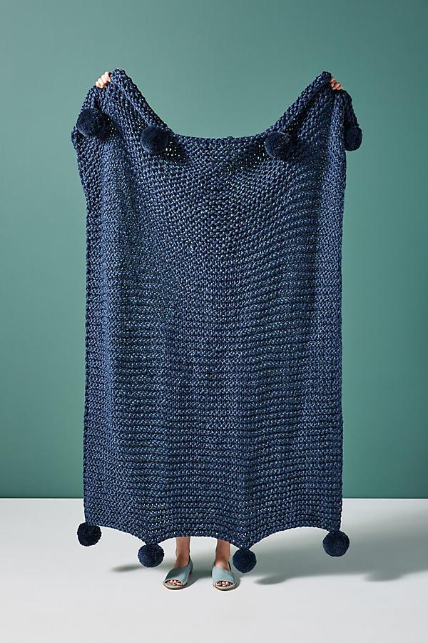 Mena Throw Blanket - Blue