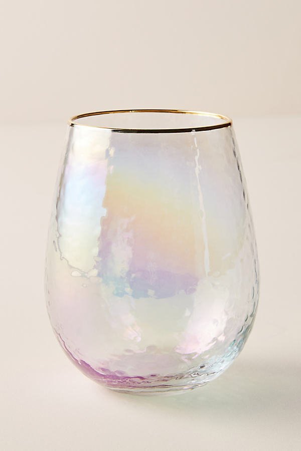Lustered Stemless Wine Glass