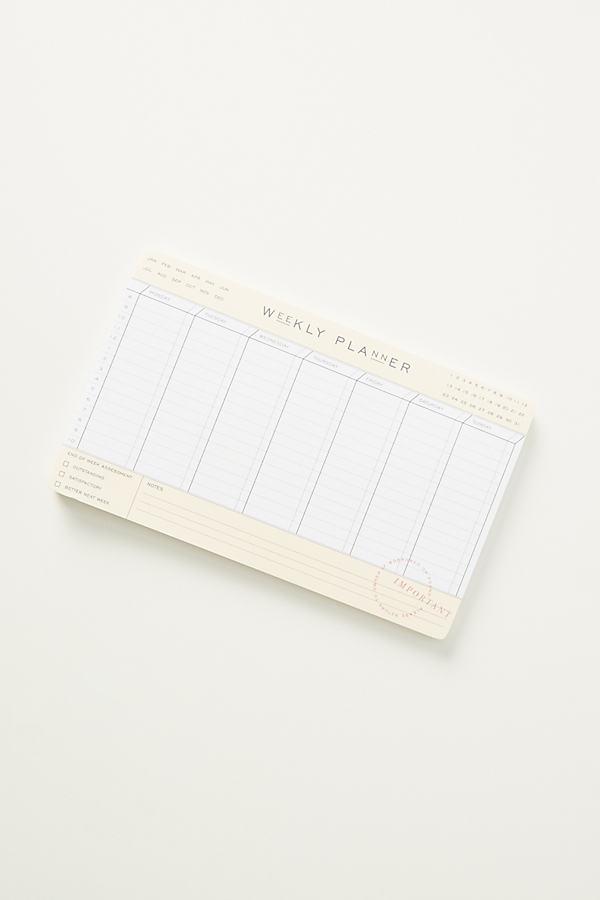 Lea Weekly Planner Deskpad - Beige