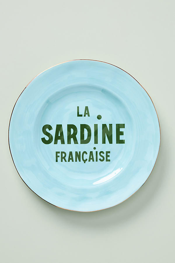 Clare V . For Anthropologie Maisonette Dessert Plate In Blue