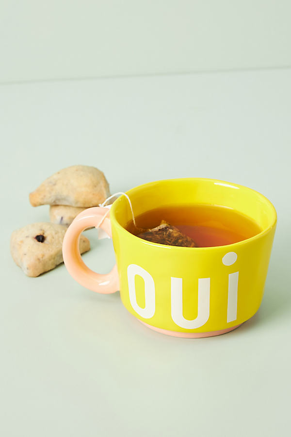 Clare V . For Anthropologie Maisonette Mug By . In Yellow Size Mug/cup