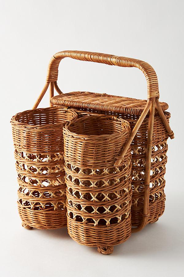 Rattan Wine & Bread Basket