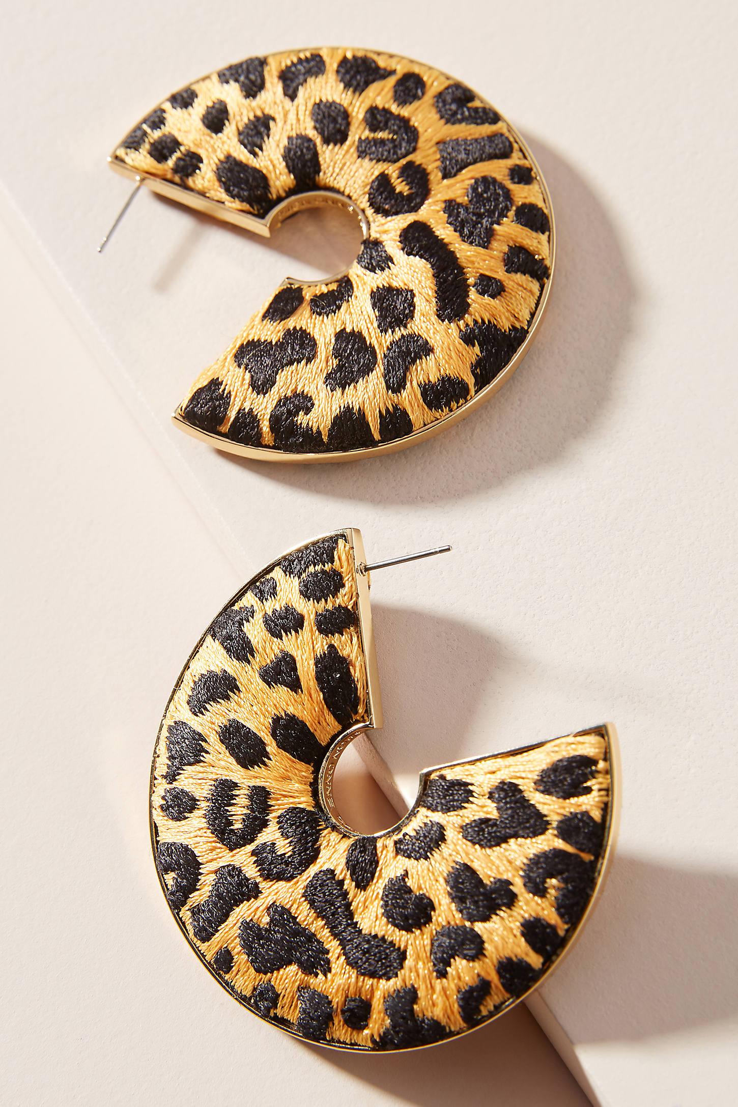 Mignonne Gavigan Earrings MIGNONNE GAVIGAN LEOPARD HOOP EARRINGS