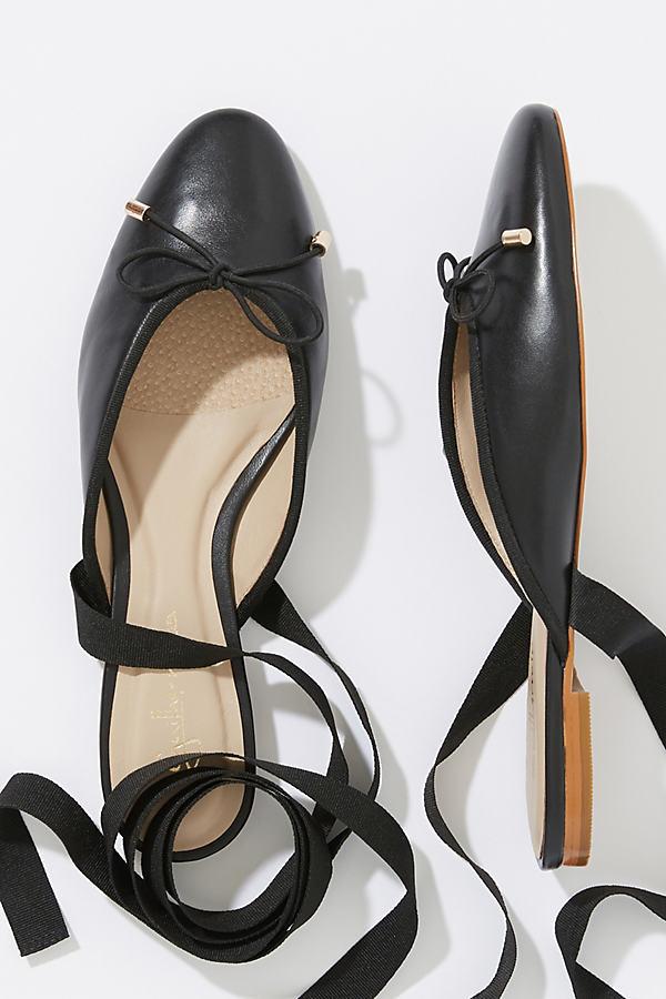 Coppelia Ankle-Tie Flats