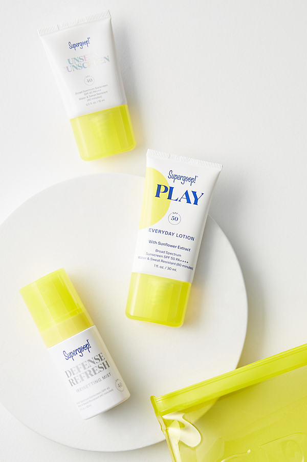 Jet Set Sunscreen Kit By Supergoop In White Size All