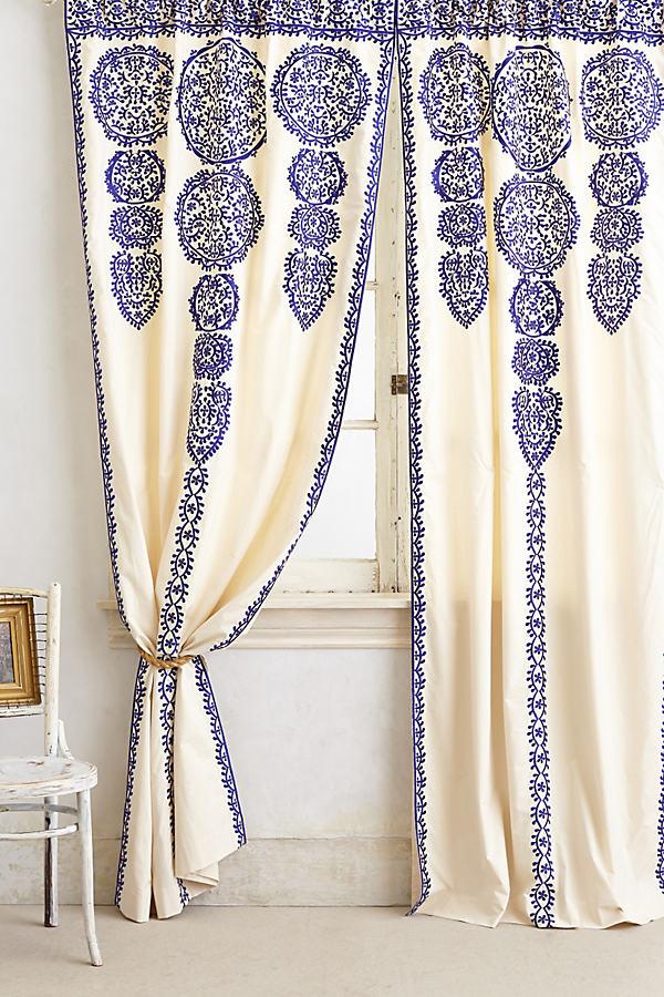 Marrakech Curtain - Blue, Size 42 X 108