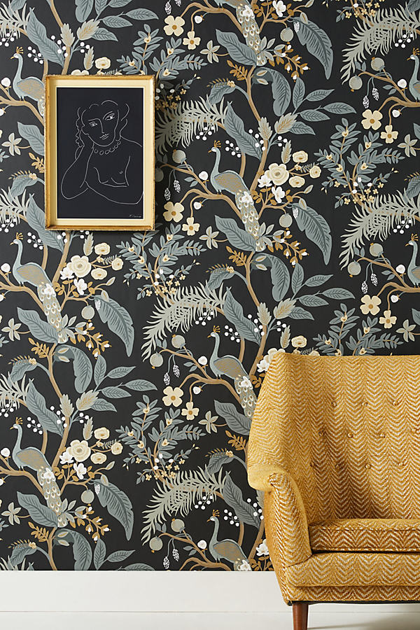 Rifle Paper Co.Rifle Paper Co. Peacock Wallpaper By Rifle ...