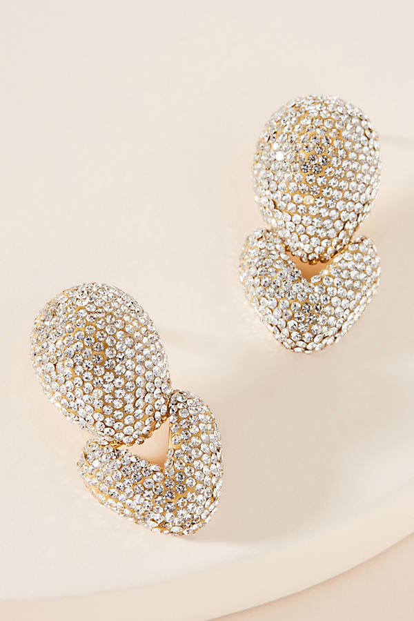 Lele Sadoughi LELE SADOUGHI CRYSTAL HINGE DROP EARRINGS