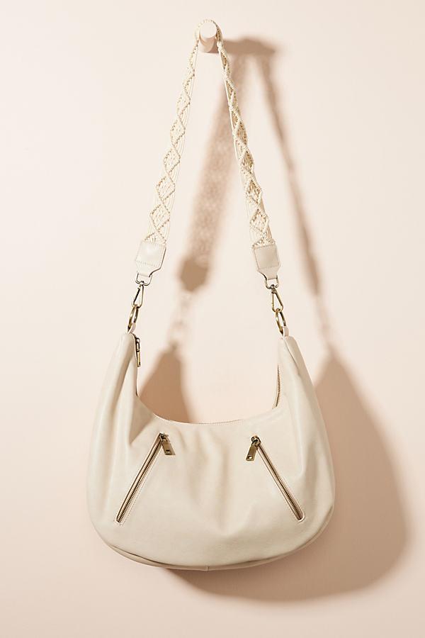 Urban Originals Crescent Slouchy Tote Bag In White