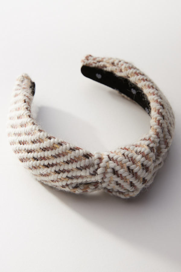 Lele Sadoughi Knit Knotted Headband In Neutrals