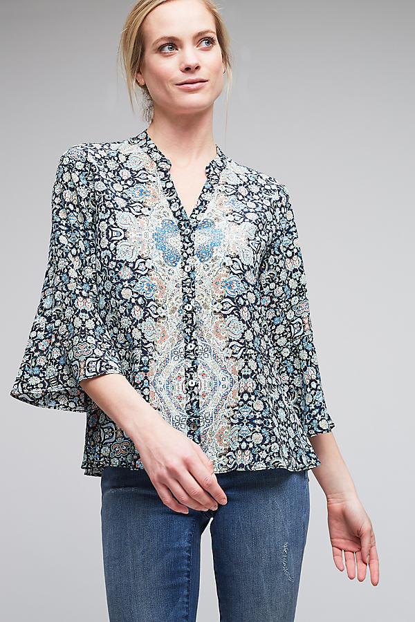 Davinia Silk Blouse - A/s, Size Uk 12