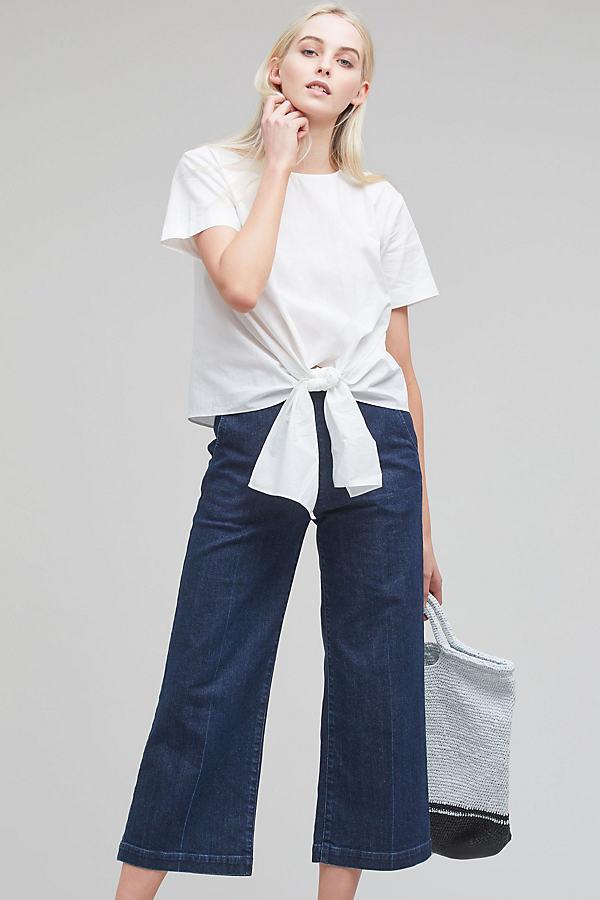Esme Tie-Detail Top, White - White, Size L