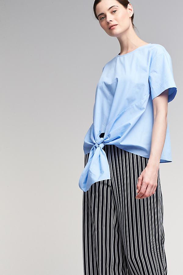 Esme Tie-Detail Top, Blue - Sky, Size M