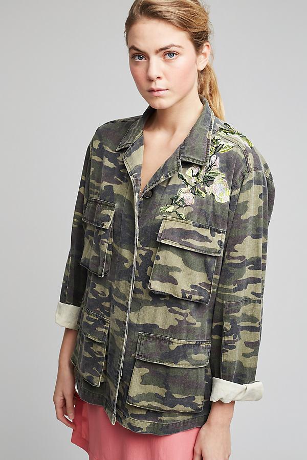Pharoah Camo-Print Jacket, Green - Green Motif, Size M/l