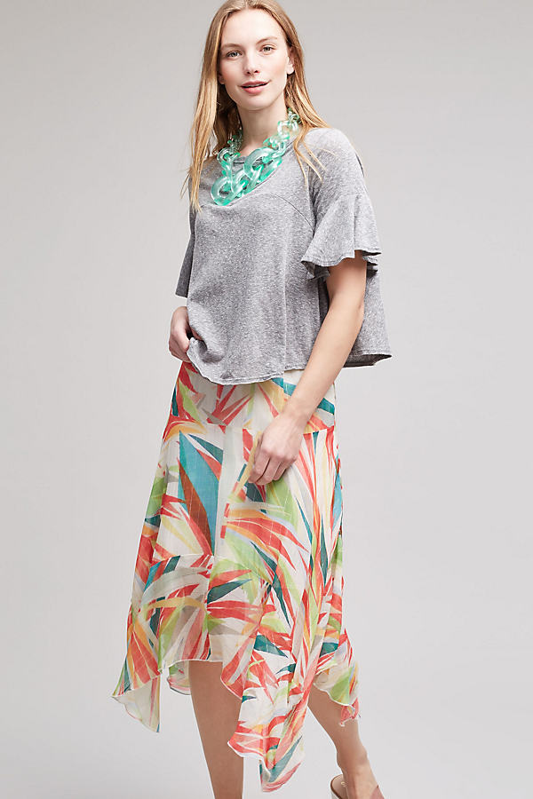 Rosamund Metallic Stripe Midi Skirt, Multi - A/s, Size Xs