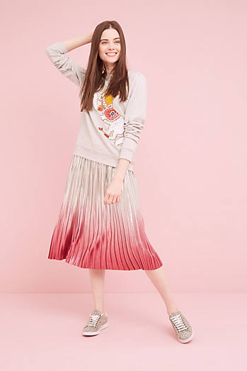 Peggy Metallic Ombre Skirt, Pink