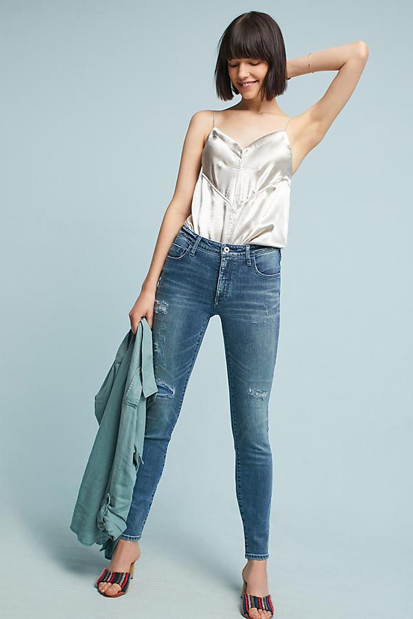 Pilcro High-Rise Skinny Ankle Jeans - Denim Medium Blue, Size 28