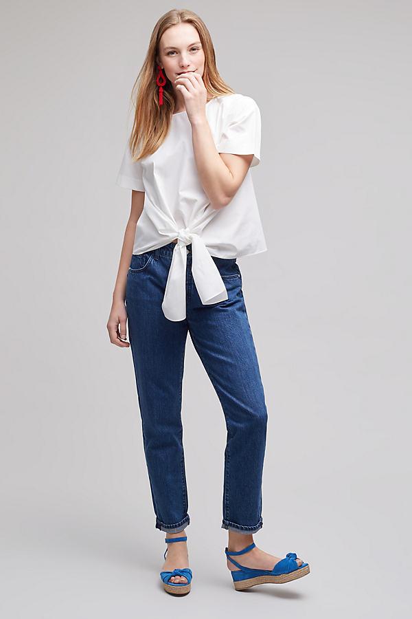 Pilcro Tilde Dark-Wash Jeans - Denim Dark, Size 27