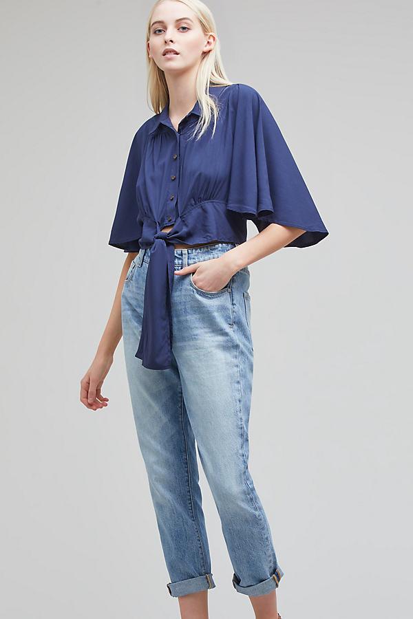 Pilcro Tilde Light-Wash Jeans - Denim Light, Size 28
