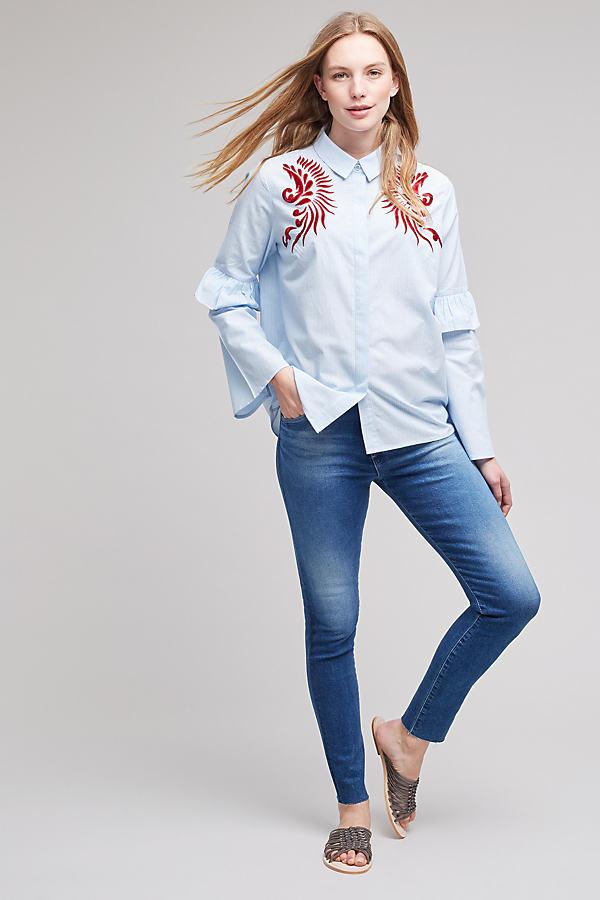 Farrah Skinny Jeans - Denim Medium Blue, Size 25