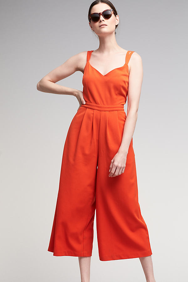 Mia Sleeveless Jumpsuit - Coral, Size Uk12