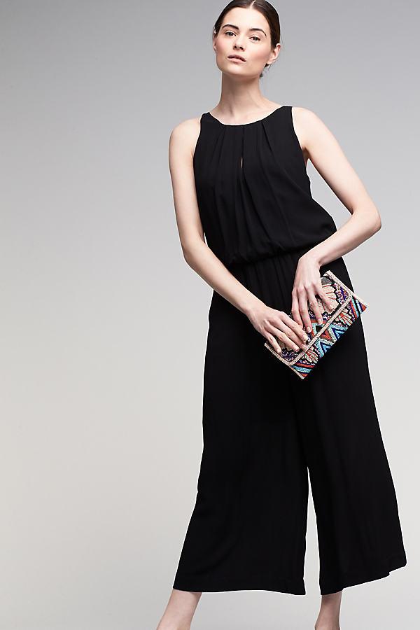 Joanna Layered Jumpsuit - Black, Size 14