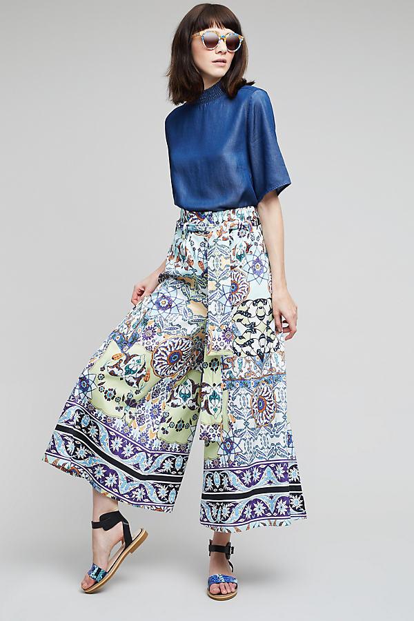 Tinitangi Wide-Leg Trousers, Blue - A/s, Size Uk12