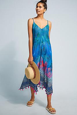Slide View: 1: Destin Tasseled Cover-Up Dress