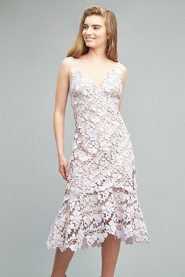 Melissa Lace Dress, Lilac - Lilac, Size Uk 18