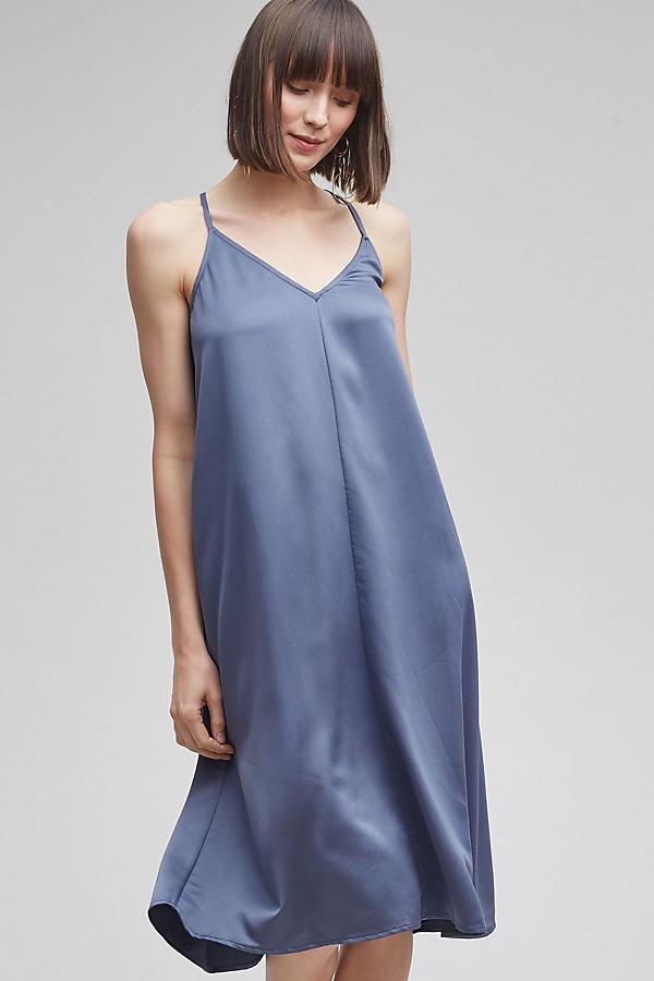 Myrthe Slip Dress, Grey - Grey, Size Uk 6
