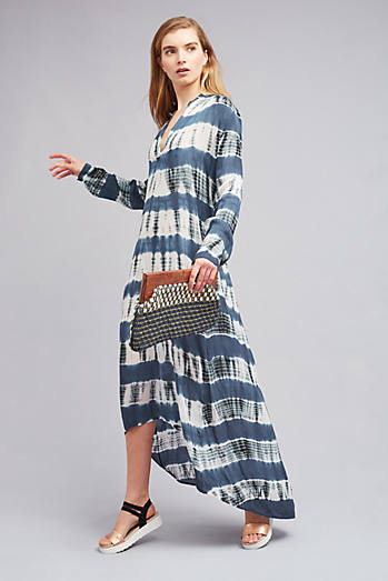 Ellie Tie-Dye Maxi Dress, Blue