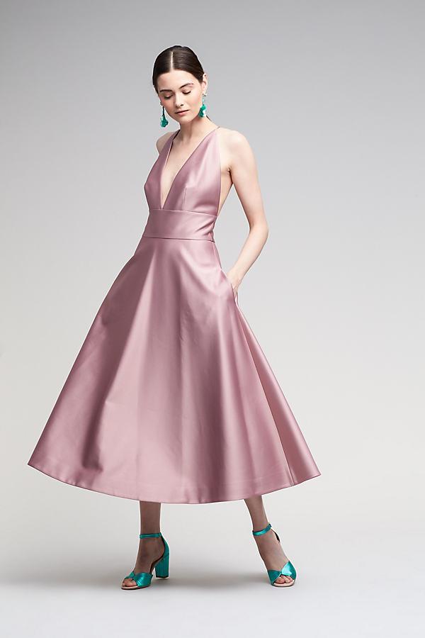 Venice Halter Dress, Pink - Rose, Size Uk 10