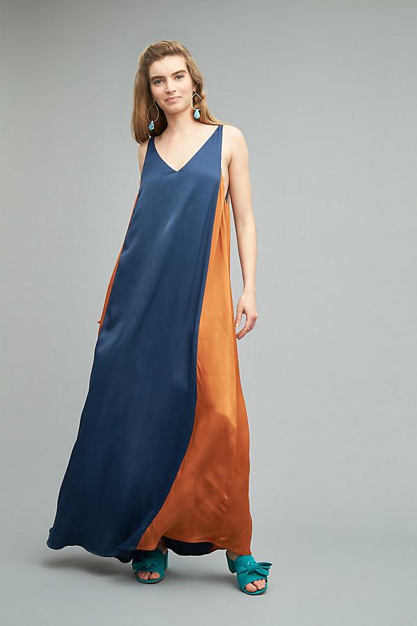 Grace Cami Maxi Dress - Navy, Size L