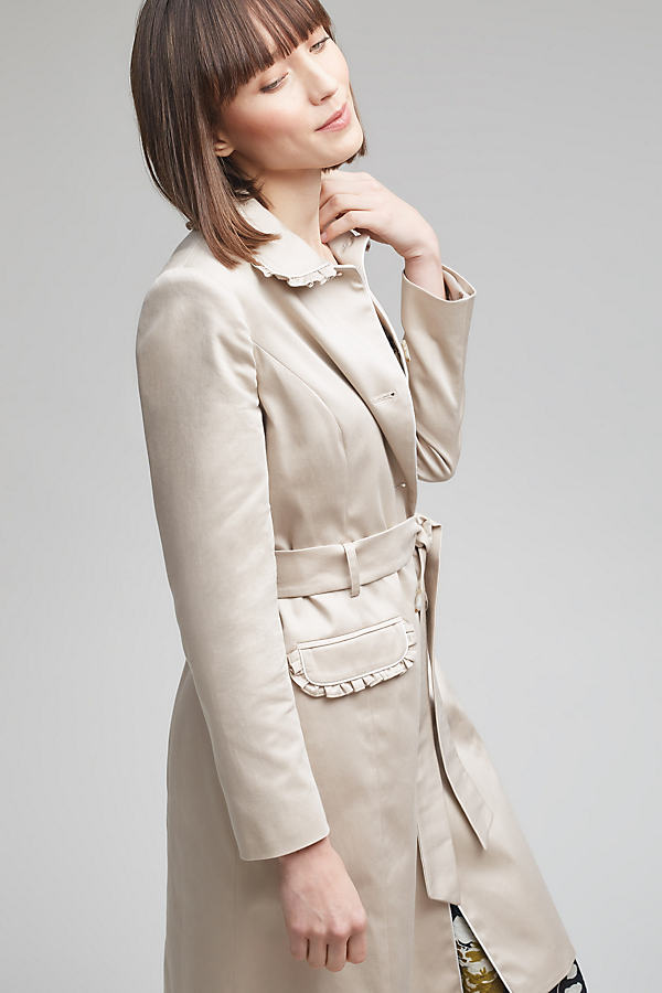 Brandy Belted Mac, Natural - Neutral, Size Uk12