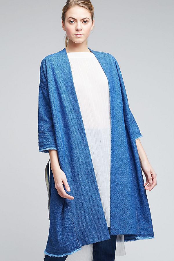 Maine Denim Longline Jacket, Blue - Blue, Size Uk12