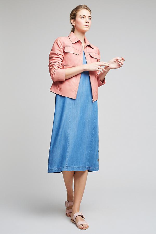 Courtney Leather Jacket, Pink - Pink, Size Uk 8
