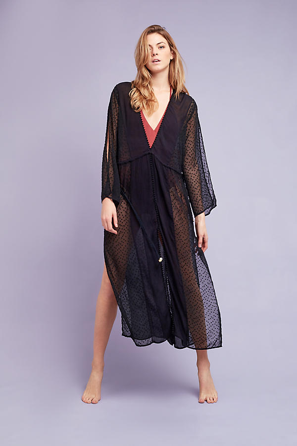 Slide View: 1: Adriana Sheer Beach Cover - Up