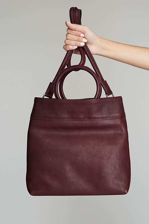 Georgia Leather Shoulder Bag - Wine
