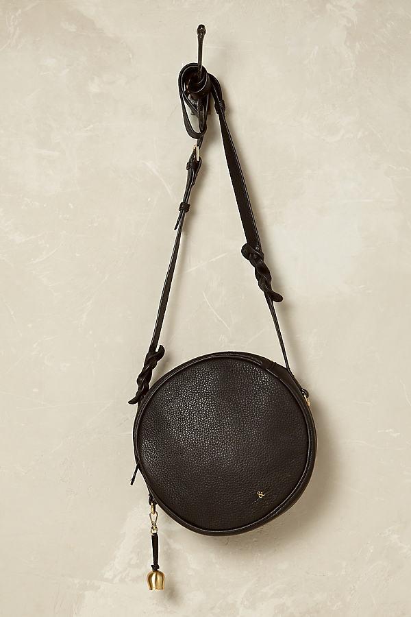Phedra Leather Cross-Body Bag - Black