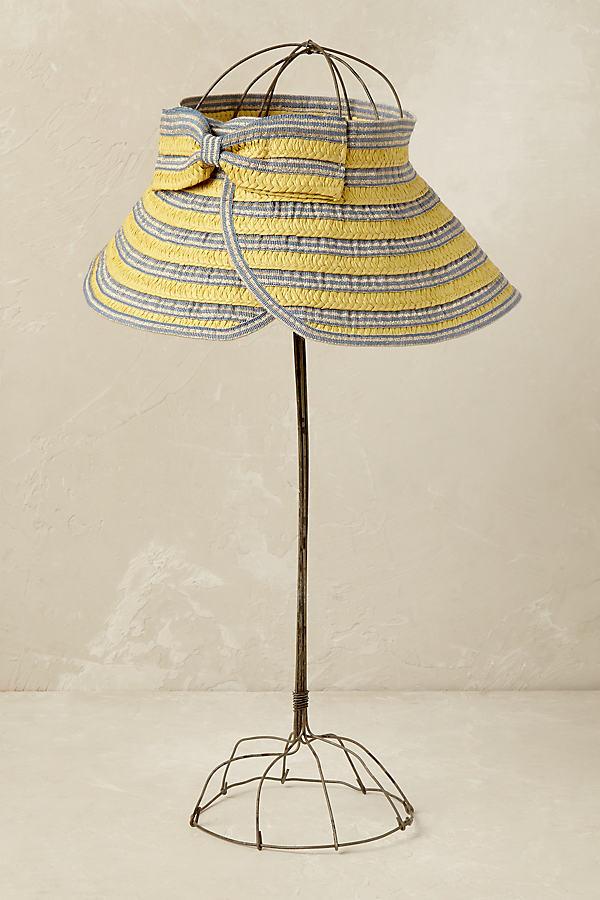 Avril Packable Beach Hat - Blue
