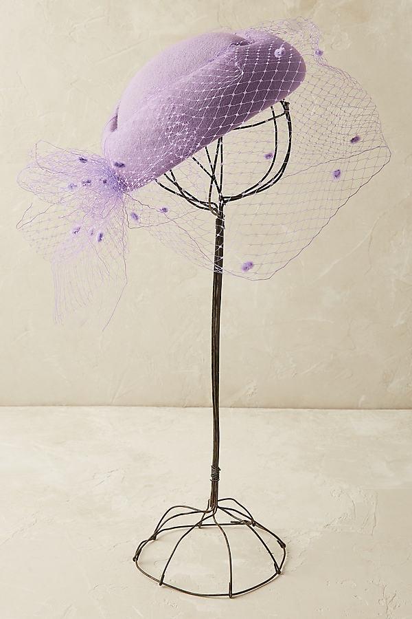 Lucija Pillbox Hat - Lilac