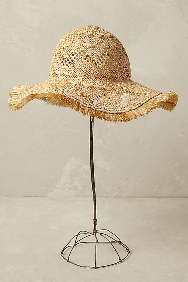 Idalina Floppy Woven Hat - Neutral