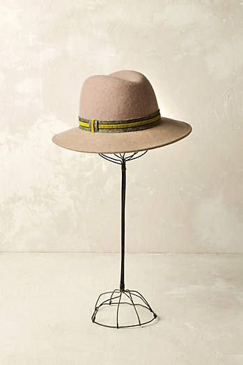 Richmond Velvet-Trim Fedora