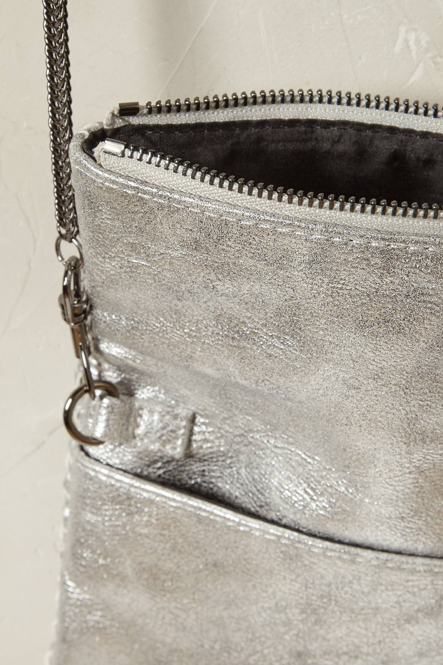Slide View: 3: Argenta Vegan Leather Crossbody Bag